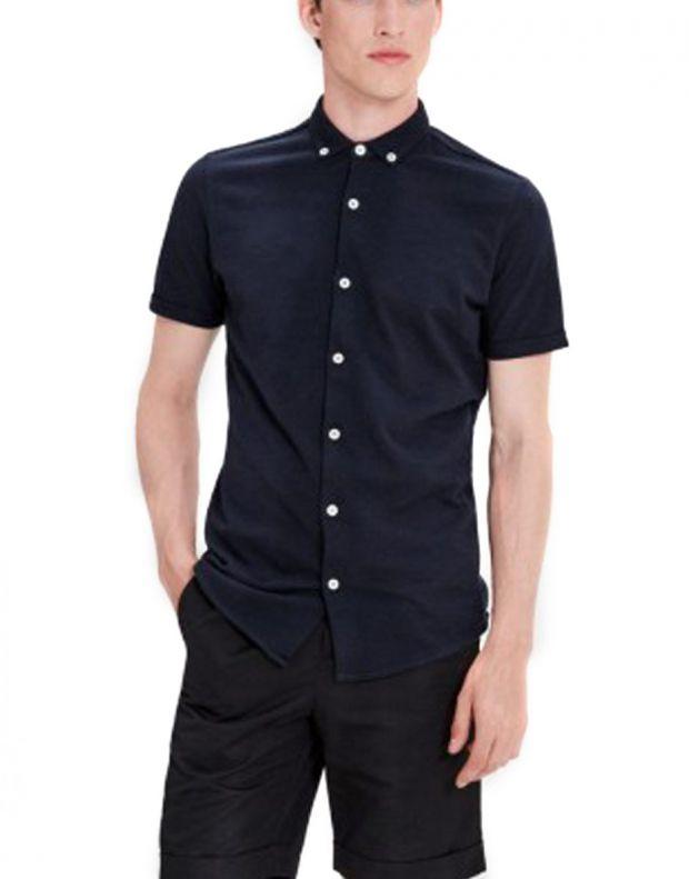 JACK&JONES Casual Cotton Shirt Light Navy - 4