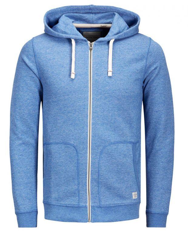 JACK&JONES Recycled Basic Zip Up Sweatshirt Blue - 27820/blue - 2