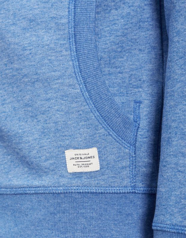 JACK&JONES Recycled Basic Zip Up Sweatshirt Blue - 27820/blue - 7
