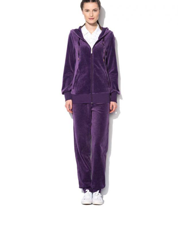 PUMA Velour Tracksuit Purple - 1
