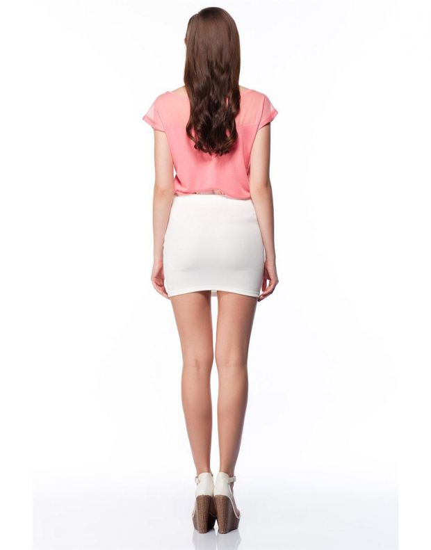 BERSHKA Elastic Skirt White - 2