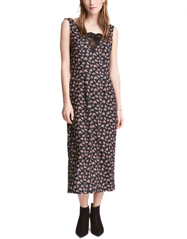 H&M V-Neck Flower Dress - 1