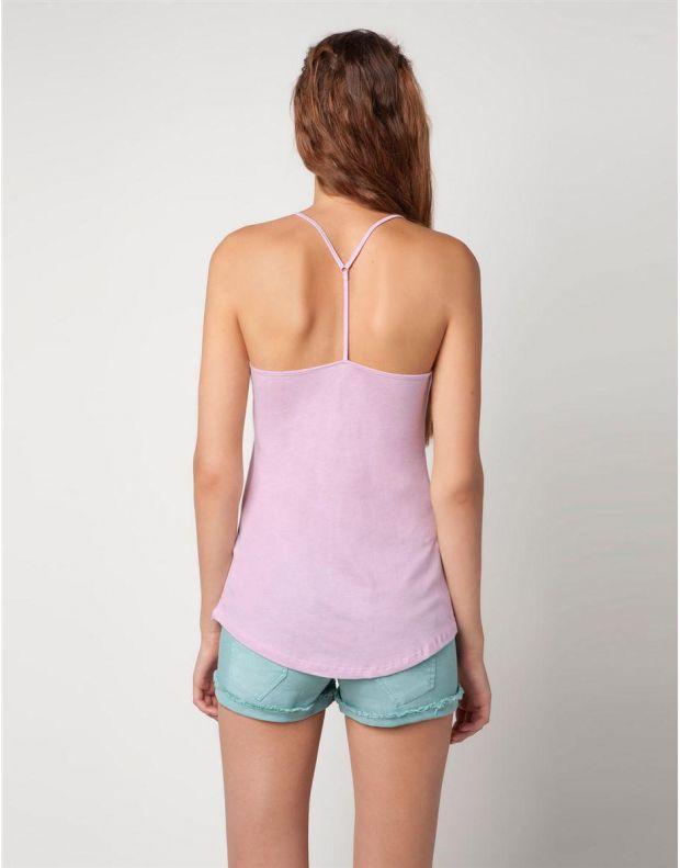 BERSHKA Lace Detail Top Pink - 8560/260/668 - 2