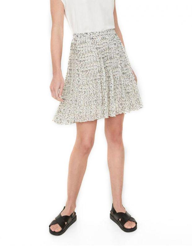 VERO MODA Retro Floral Skirt White - 1
