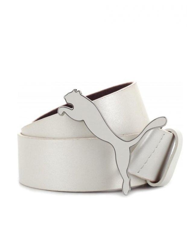 PUMA Mens Golf Leather Cat Belt White - 1