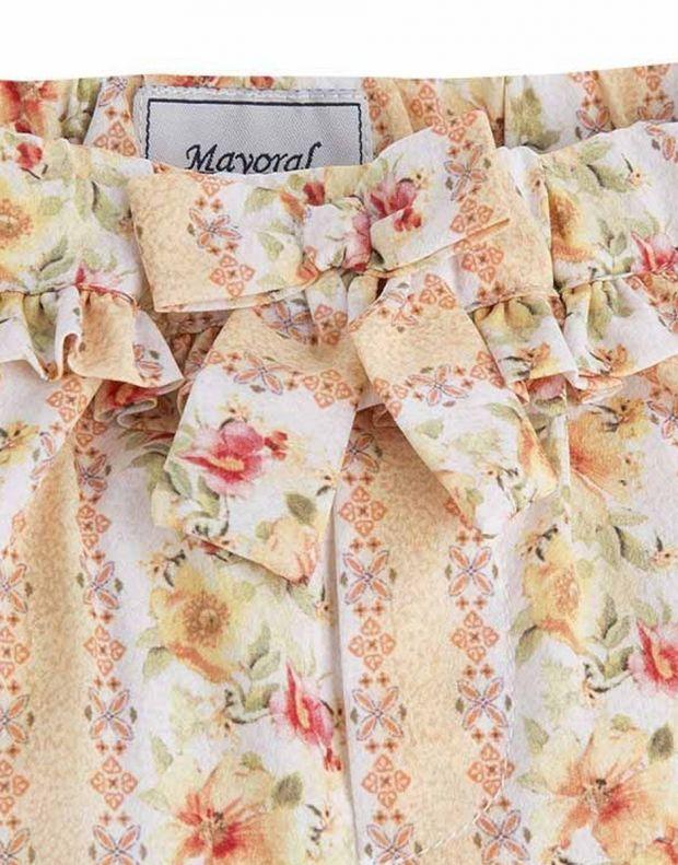 MAYORAL Flower Summer Pant Orange - 3