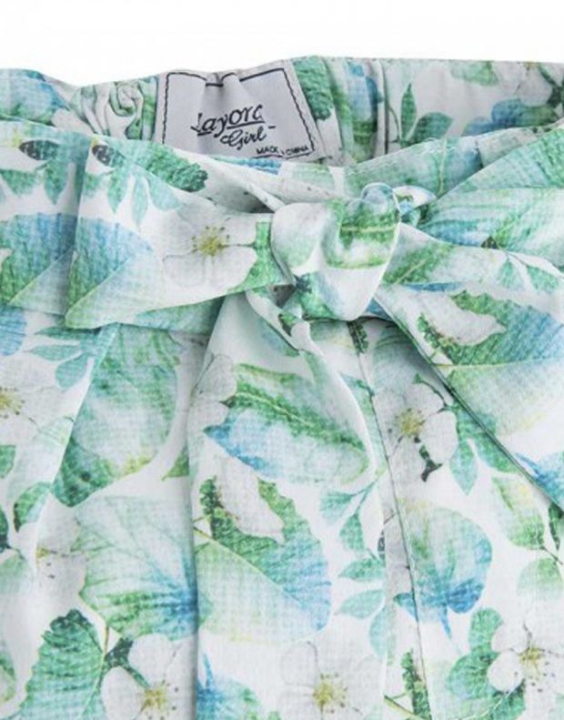 MAYORAL Flower Summer Pant Green - 1542 - 3