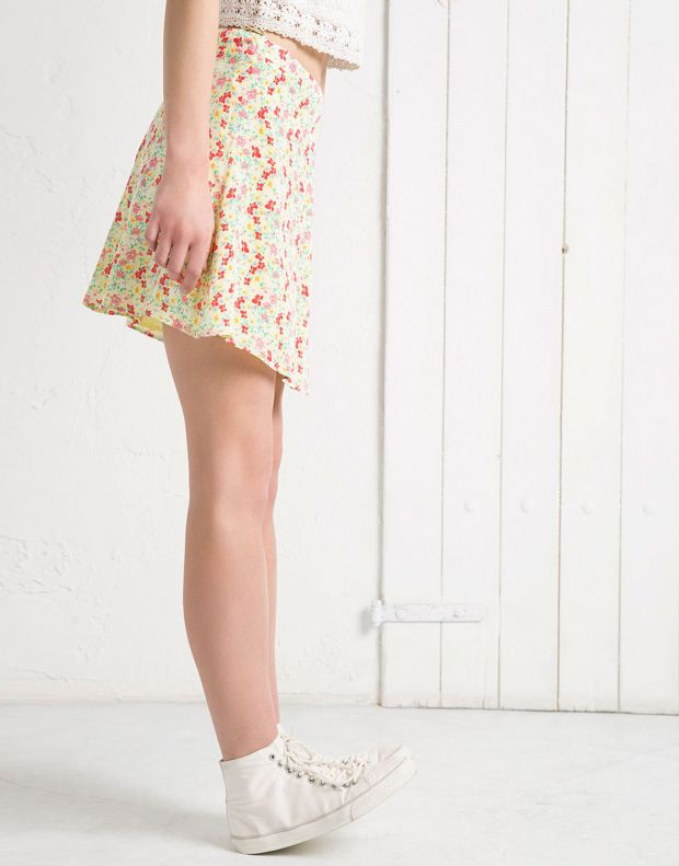BERSHKA Flower Skirt - 2