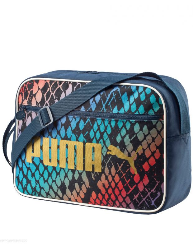 PUMA Campus Reporter Teal Snake Messenger Bag - 1
