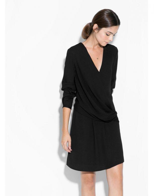 MANGO Wrap Neckline Dress - 1