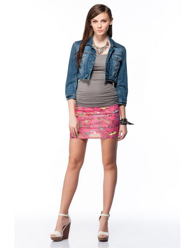 BERSHKA Printed Skirt - 1