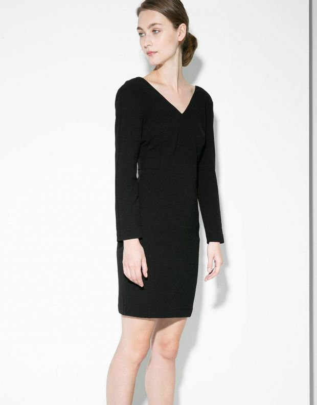 MANGO Seam Crepe Dress - 3