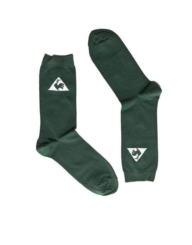 LE COQ SPORTIF Cotton Logo Socks Green