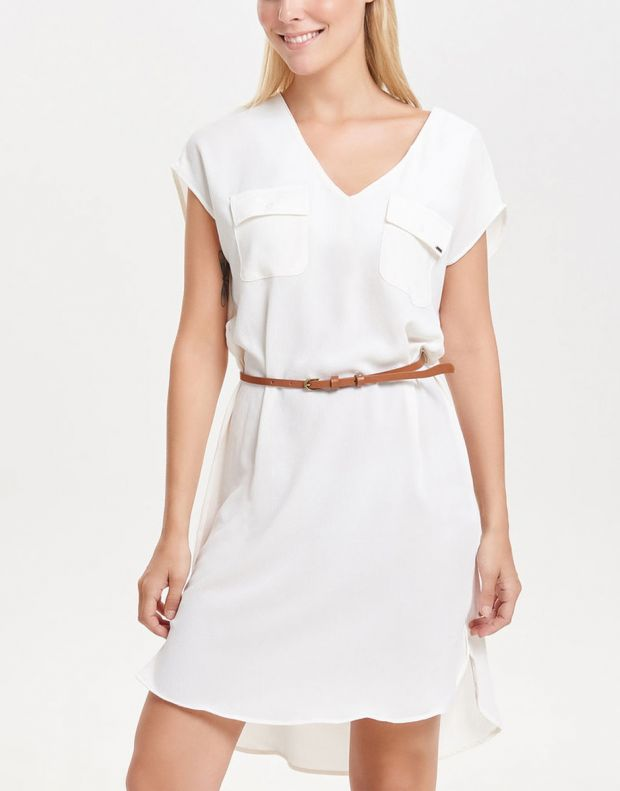ONLY Classic Tube Dress White - 2