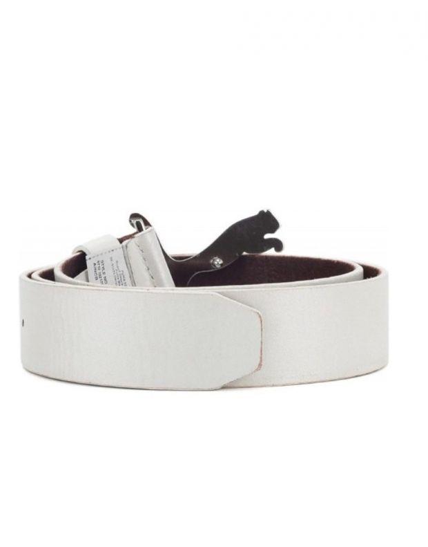 PUMA Mens Golf Leather Cat Belt White - 2
