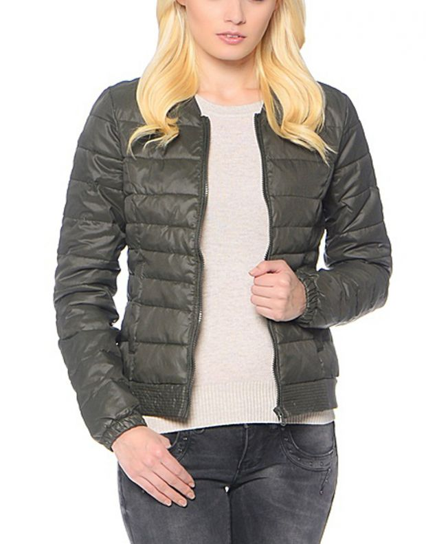 ONLY Short Quilted Jacket Olive - 1