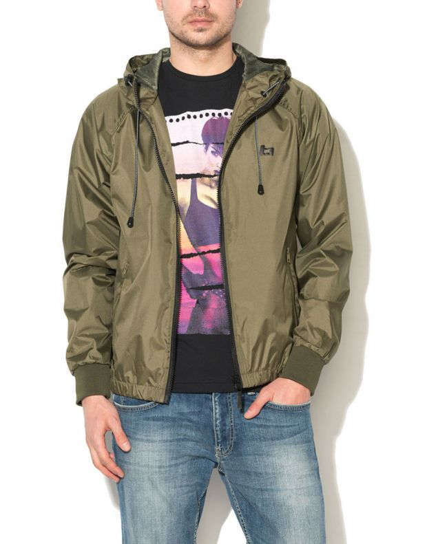 BLEND Basic Hooded Jacket Green - 1