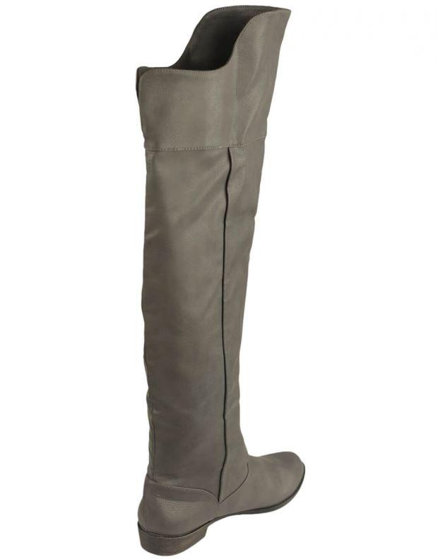 BESHKA High Boots Sage Grey - 3