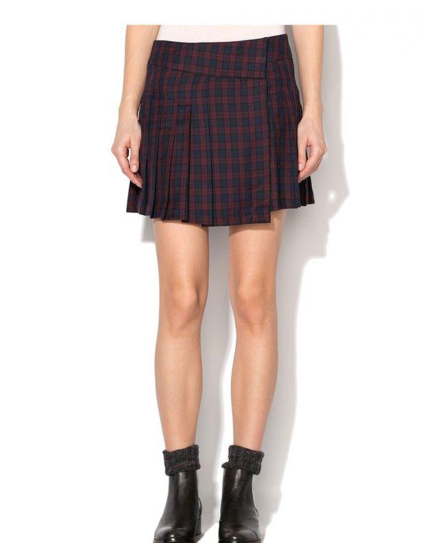 VILA Check Skirt Red - 1