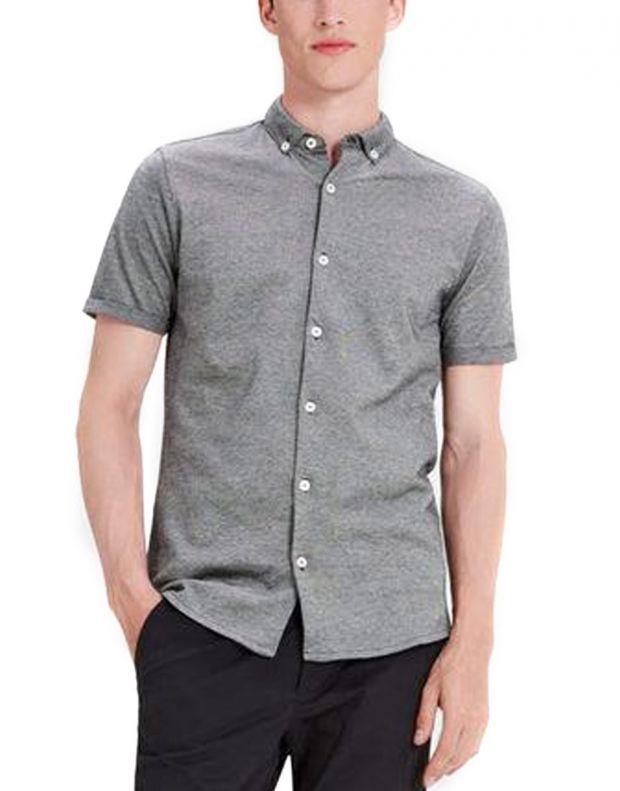 JACK&JONES Casual Cotton Shirt Light Dark Grey - 1