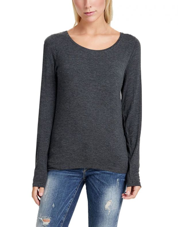 ONLY Knitted Long Sleeved Blouse Dark Grey - 1