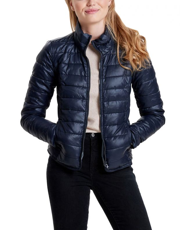 ONLY Short Quilted Jacket Blue - 1