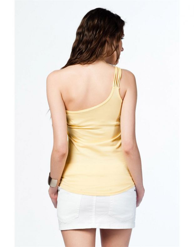 BERSHKA Asymmetric Top Light Yellow - 8505/187/300 - 2