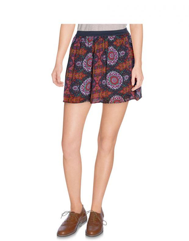 VERO MODA Dark Ethno Print Skirt - 56294/adobe - 1