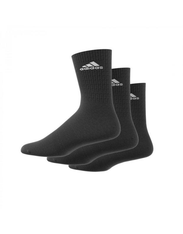 ADIDAS 3S Performance Crew Socks Black - AA2298 - 1