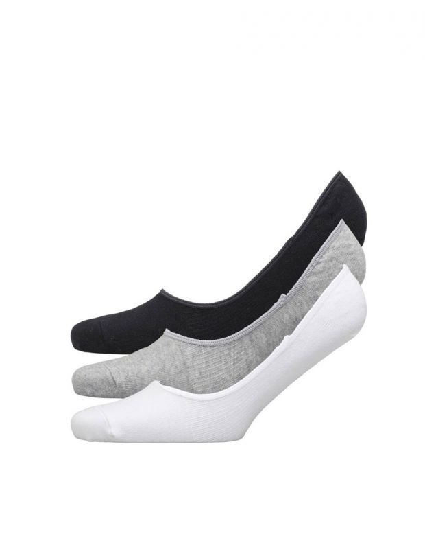 ADIDAS 3 Pack Perfomance Invisible Socks BWG Mens - AA2307 - 1