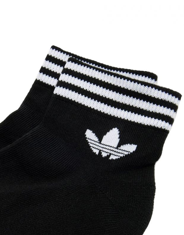 ADIDAS 3 Pairs Trefoil Ankle Socks Black - EE1151 - 2