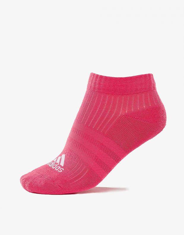 ADIDAS 3 Stripes Logo Socks 3 Pairs Pink - CF7344 - 2