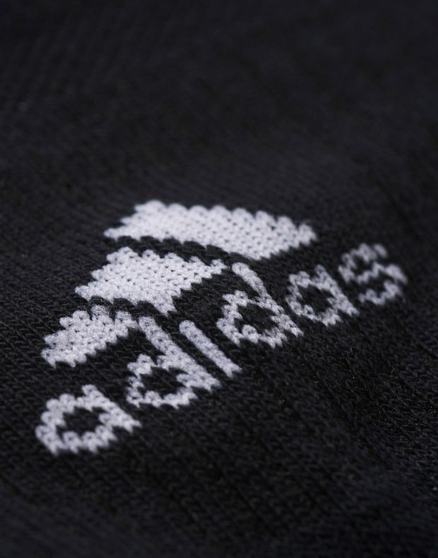 ADIDAS 3 Stripes No-Show Socks 3 Pairs Black - AA2280 - 2