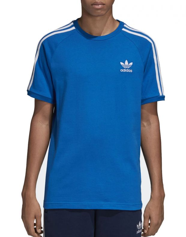 ADIDAS Originals 3-Stripes Tee Blue - 1