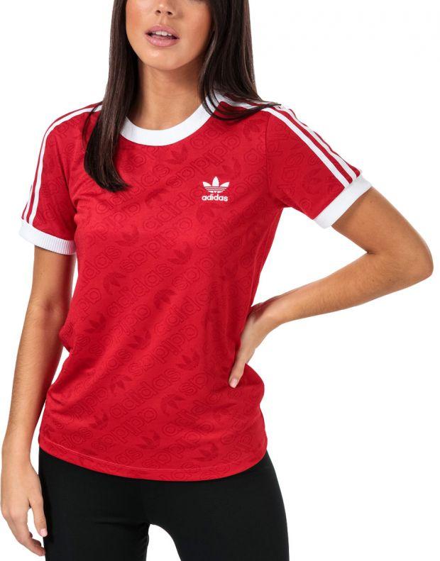 ADIDAS 3-Stripes Tee Red - ED7488 - 1