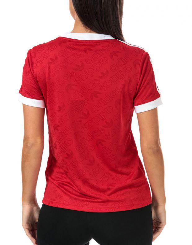 ADIDAS 3-Stripes Tee Red - ED7488 - 2