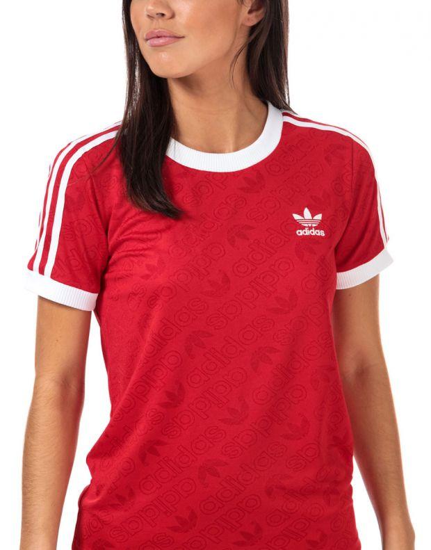 ADIDAS 3-Stripes Tee Red - ED7488 - 3