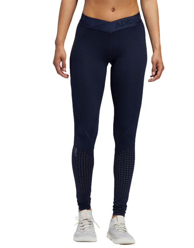 ADIDAS Alphaskin Long Performance Tights Navy - EB3736 - 1