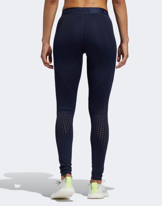 ADIDAS Alphaskin Long Performance Tights Navy - EB3736 - 2