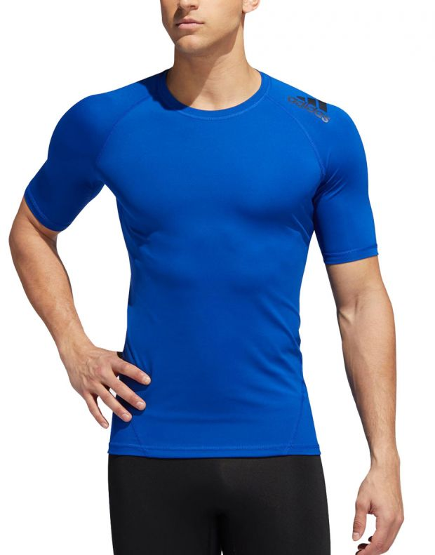 ADIDAS Alphaskin Sport Tee Royal Blue - EB9383 - 1