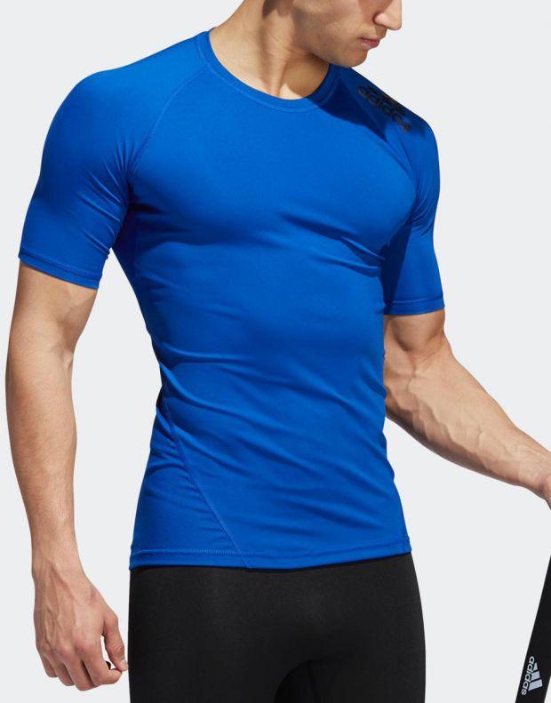 ADIDAS Alphaskin Sport Tee Royal Blue - EB9383 - 4