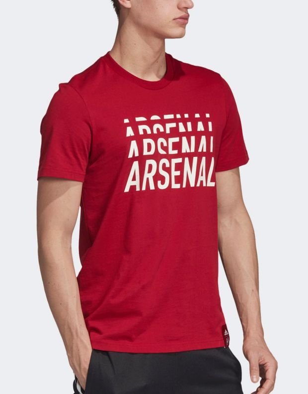 ADIDAS Arsenal DNA Graphic Tee Red - EH5621 - 4