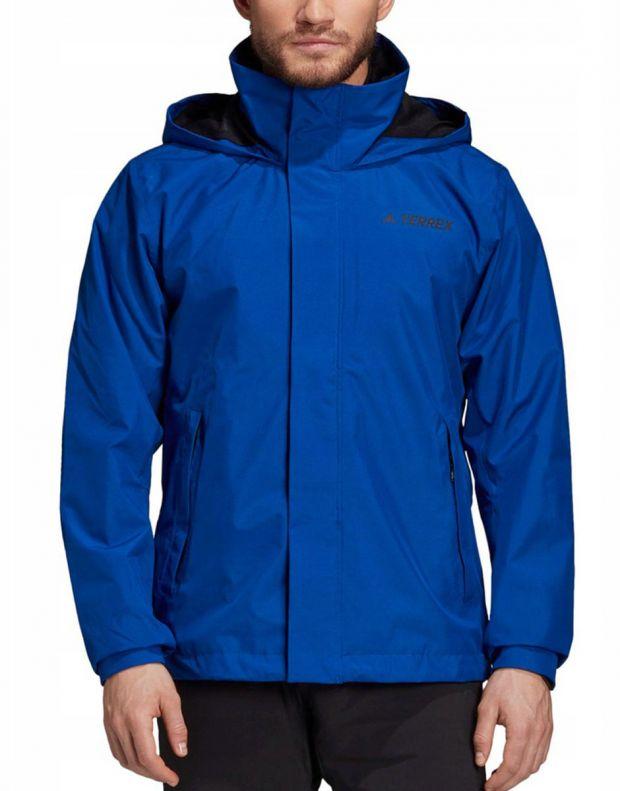 ADIDAS Terrex Ax Rain Jacket Blue - DZ5984 - 1