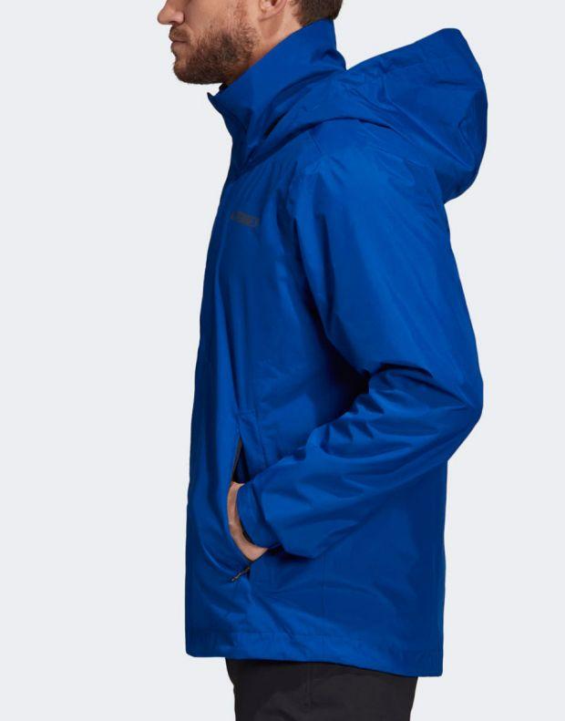 ADIDAS Terrex Ax Rain Jacket Blue - DZ5984 - 3