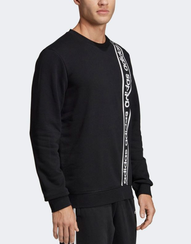 ADIDAS Branded Crew Sweatshirt Black - EI5617 - 3