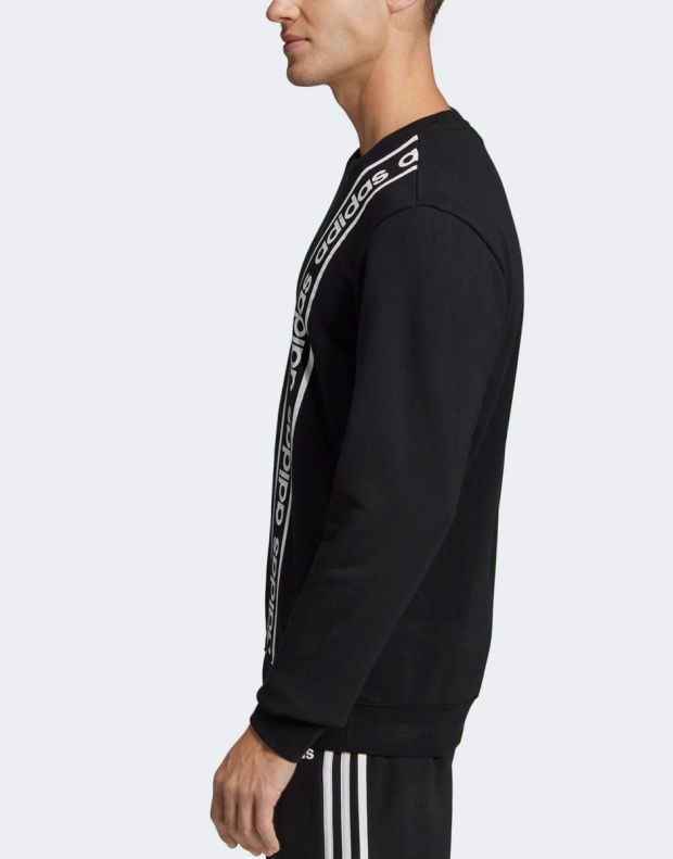 ADIDAS Branded Crew Sweatshirt Black - EI5617 - 4