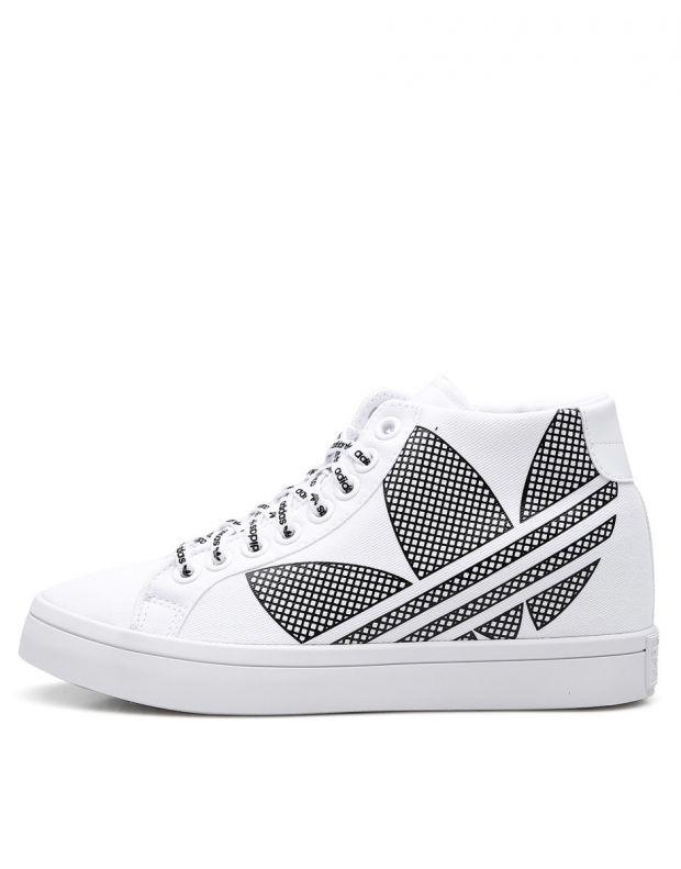 ADIDAS Courtvantage Heel Logo White - FU6820B - 1