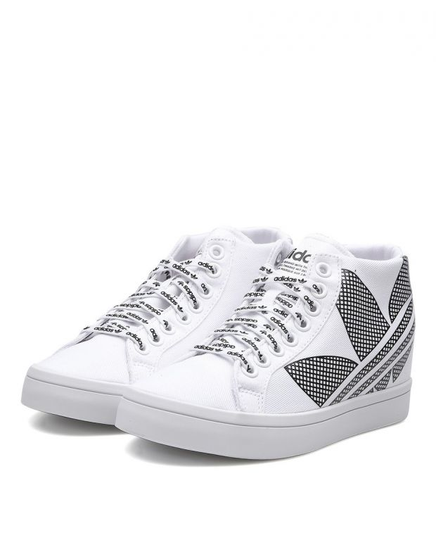ADIDAS Courtvantage Heel Logo White - FU6820B - 3