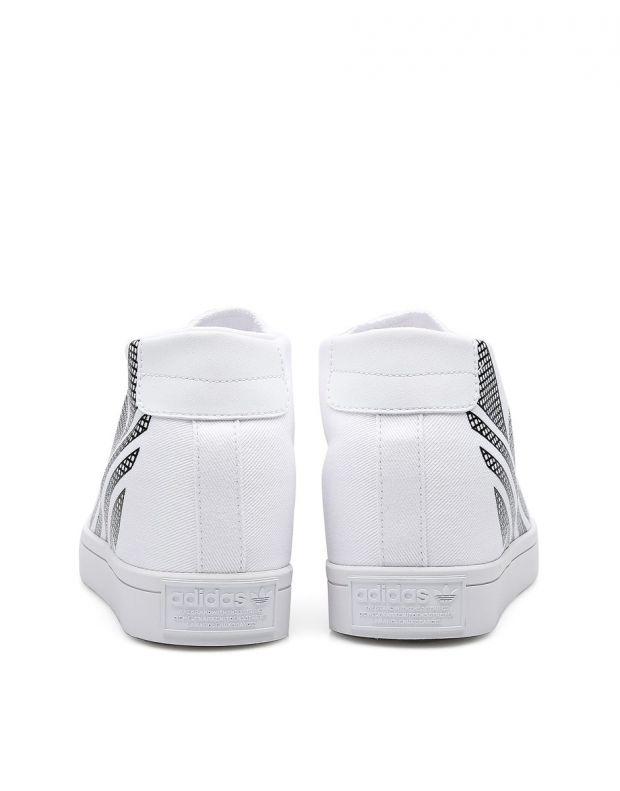 ADIDAS Courtvantage Heel Logo White - FU6820B - 4