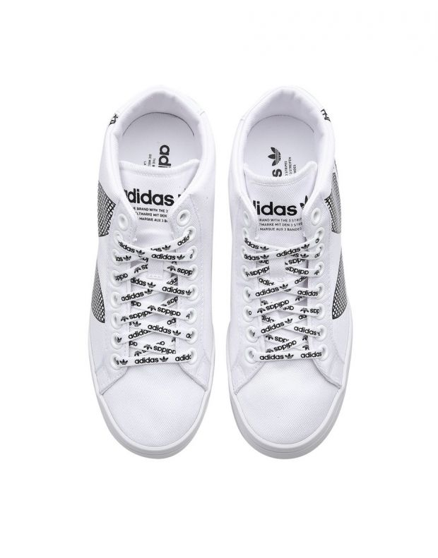 ADIDAS Courtvantage Heel Logo White - FU6820B - 5